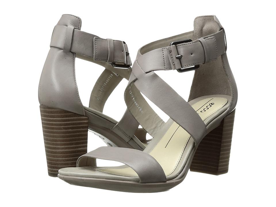 ECCO - Shape 65 Block Sandal (Moon Rock Calf Leather) High Heels