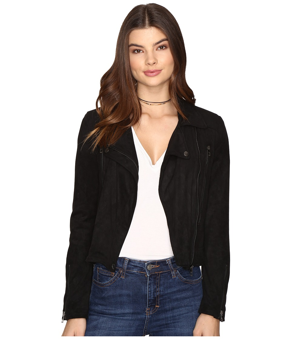 ONLY - Marion Faux Suede Biker Jacket (Black) Women's Coat