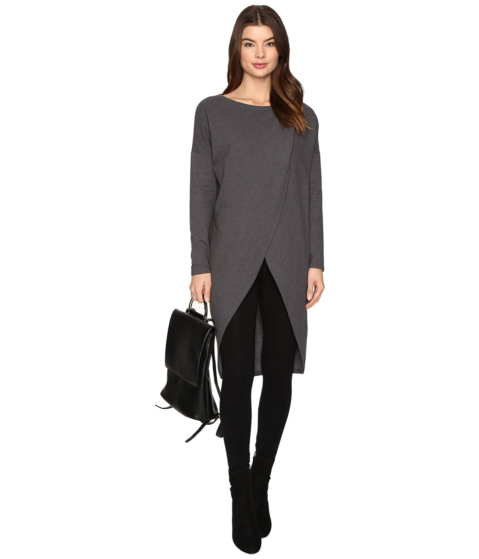 ONLY - Vivi O-Neck Long Sweater (Dark Grey Melange) Women's Sweater