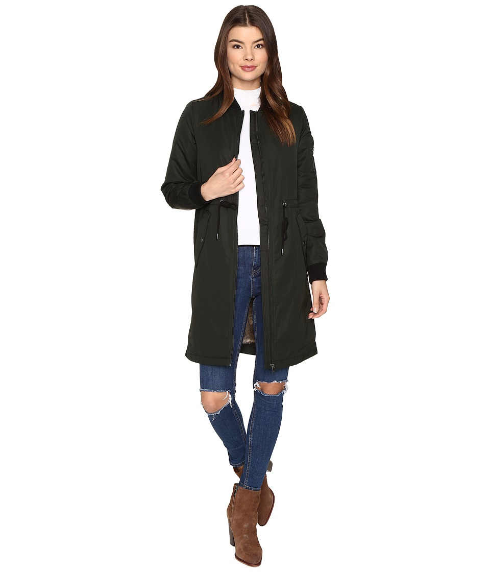 ONLY - Ella Long Bomber Jacket (Jet Set) Women's Coat