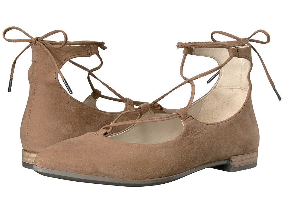 ECCO - Shape Tie Up Ballerina (Camel Calf Nubuck) Women's Slip on Shoes