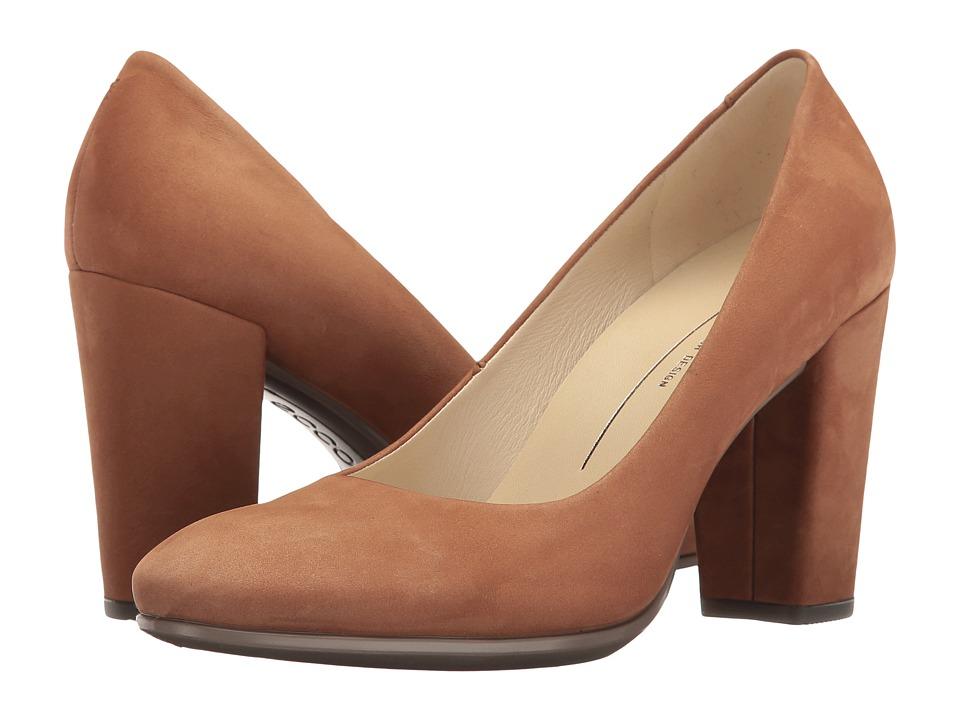 ECCO - Shape 75 Block Pump (Camel Calf Nubuck) High Heels