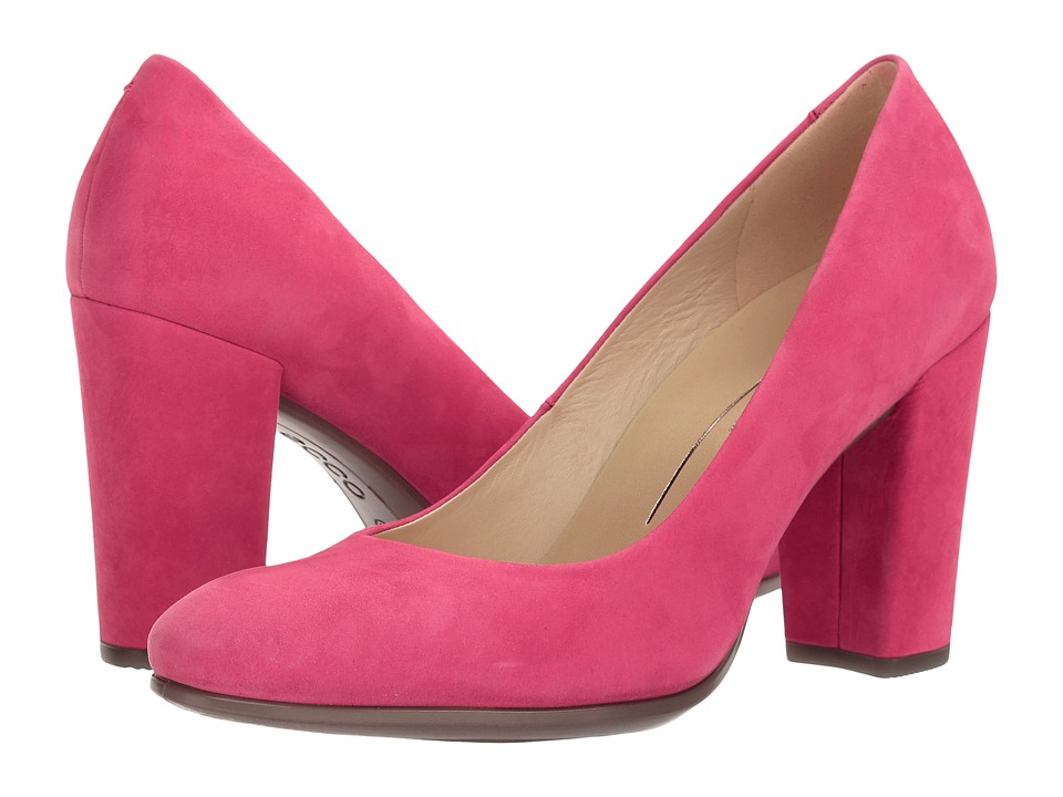 ECCO - Shape 75 Block Pump (Raspberry Calf Nubuck) High Heels