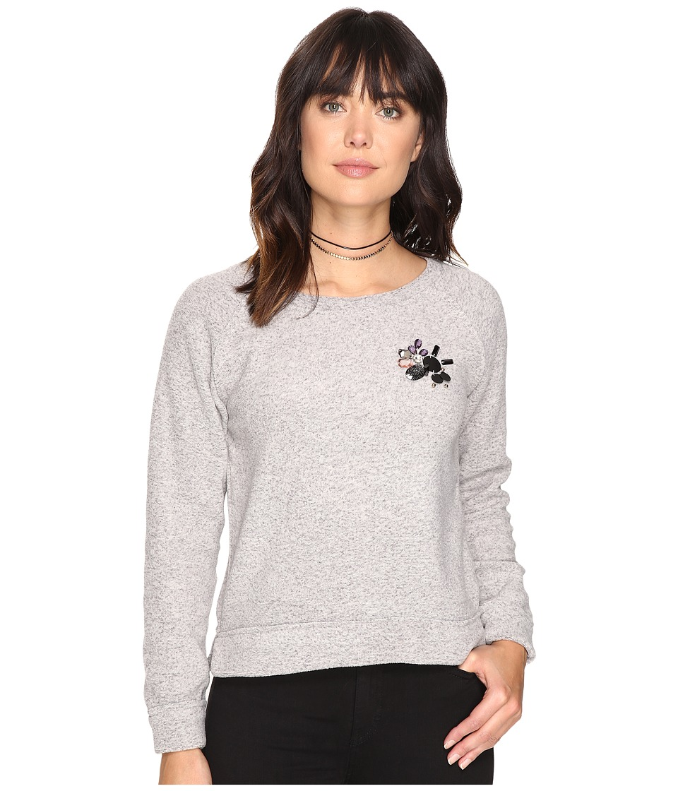 ONLY - Berta O-Neck Sweater (Light Grey Melange) Women's Sweater