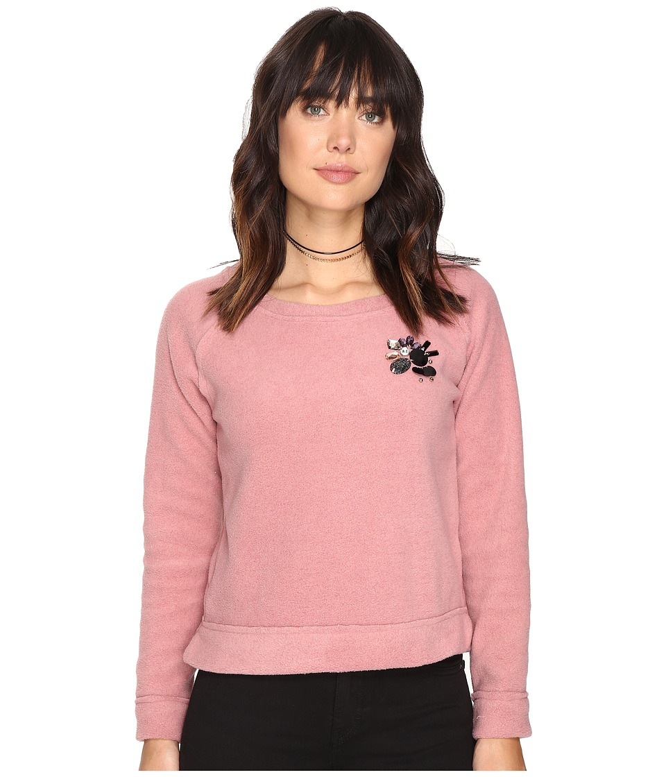 ONLY - Berta O-Neck Sweater (Ash Rose) Women's Sweater