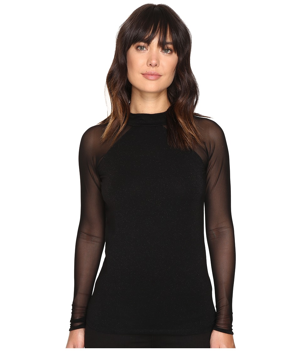 ONLY - Niella Mesh Top (Black) Women's Clothing