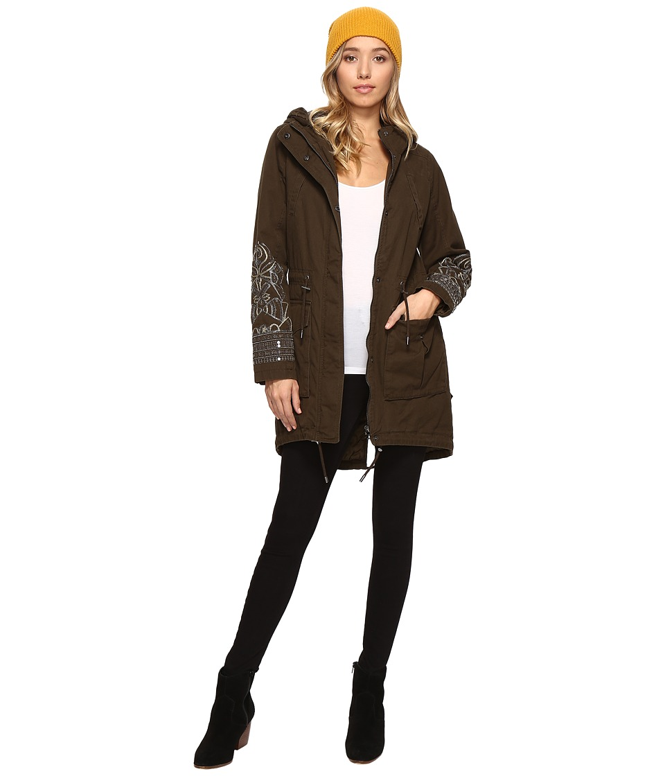 ONLY - Ally Embellished Long Parka (Beech) Women's Coat