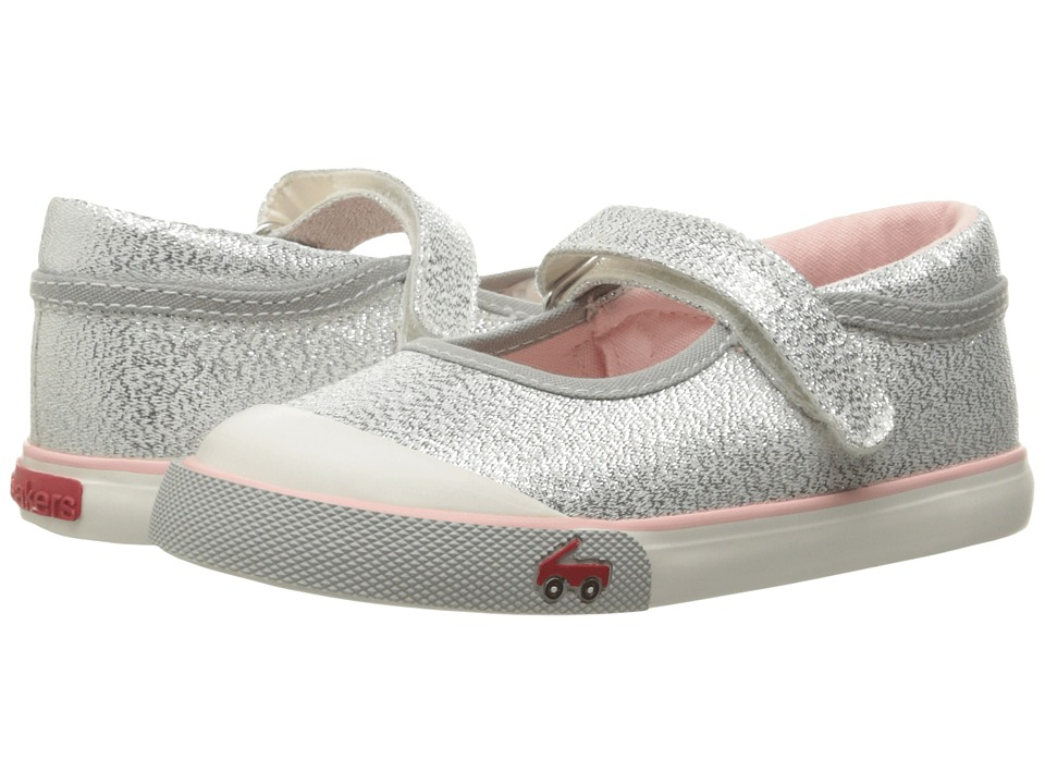 See Kai Run Kids Marie (Toddler) (Silver Glitter) Girls Shoes