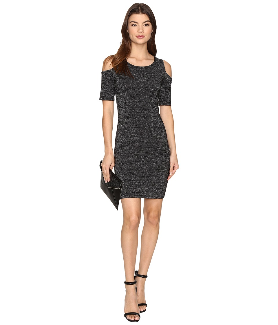 ONLY - Roma Lurex 2/4 Short Dress (Black/Silver) Women's Dress