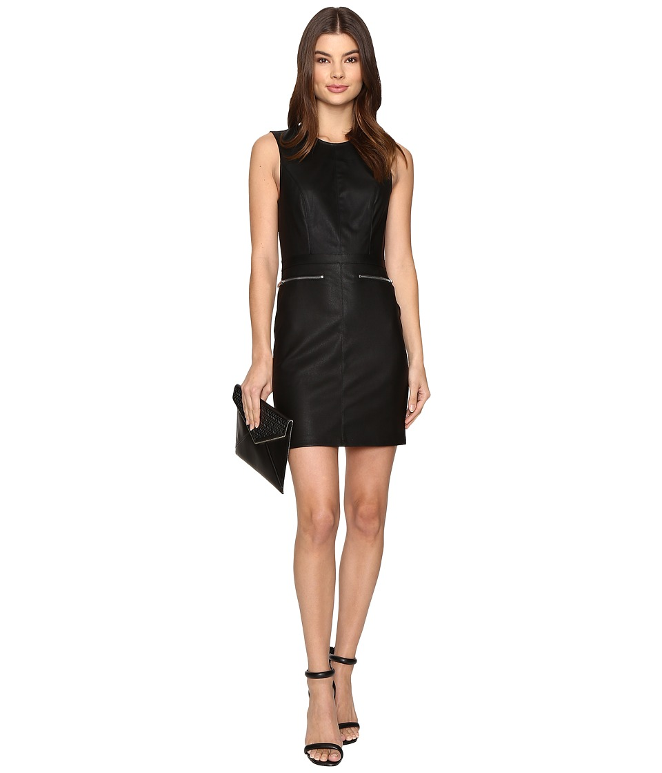 ONLY - Celina Faux Leather Biker Dress (Black) Women's Dress