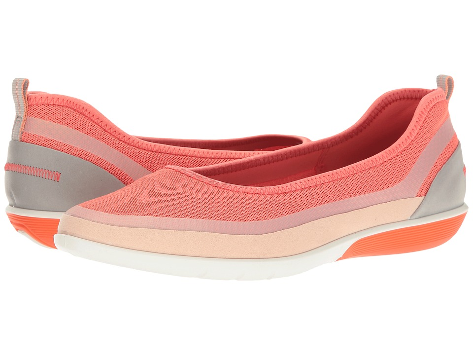 ECCO - Sense Light Ballerina (Rose Dust/Coral Silver/Wild Dove Synthetic/Textile/Cow Leather) Women's Slip on Shoes