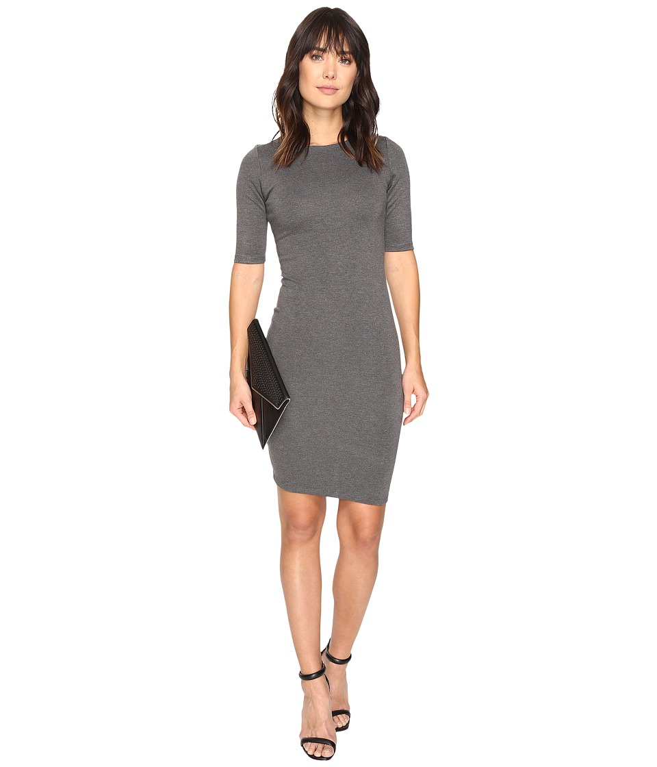 ONLY - Bella Short Sleeve Dress (Dark Grey Melange) Women's Dress