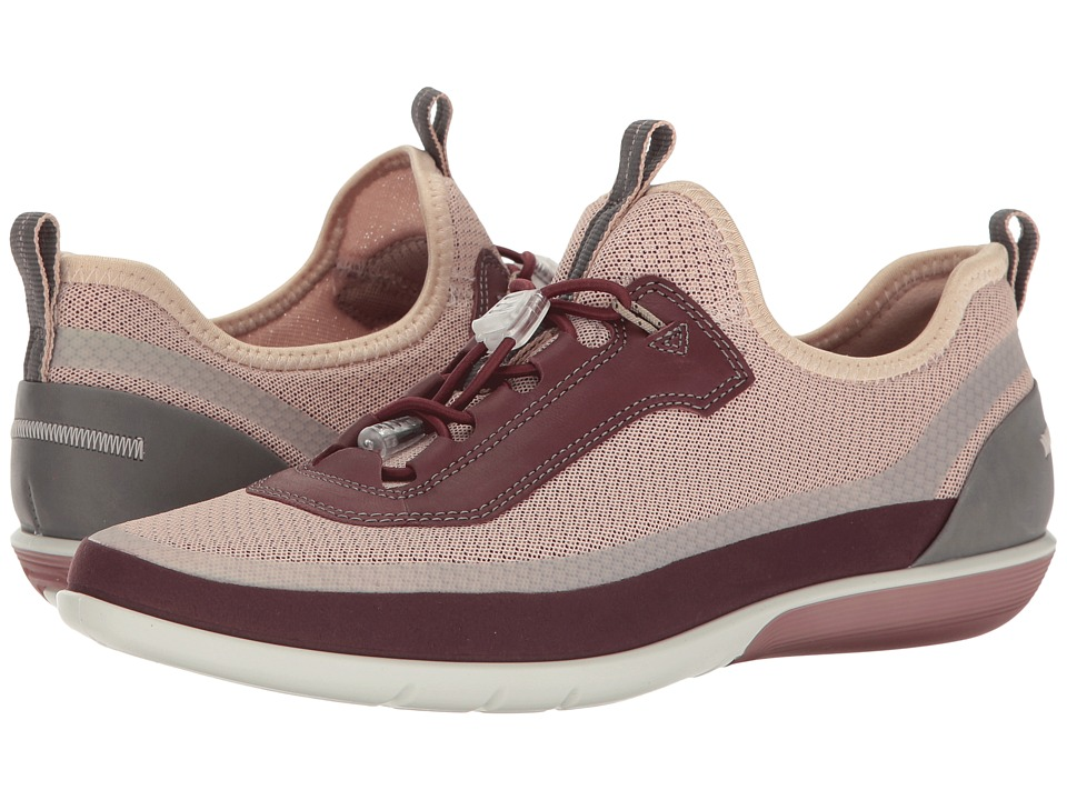 ECCO - Sense Light Toggle (Bordeaux/Rose Dust Bord/Bordeaux Synthetic/Textile/Cow Leather) Women's Lace up casual Shoes