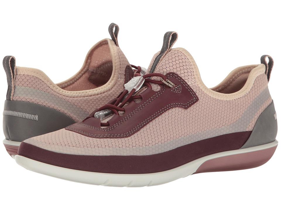ECCO - Sense Light Toggle (Bordeaux/Rose Dust Bord/Bordeaux Synthetic/Textile/Cow Leather) Women's Lace up casual Shoes