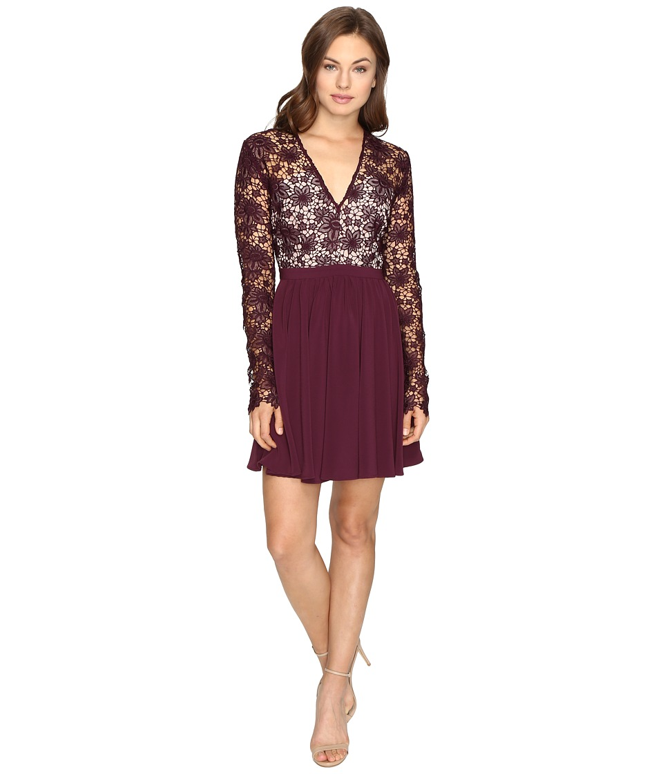 StyleStalker Rosale Long Sleeve Dress (Plum) Women