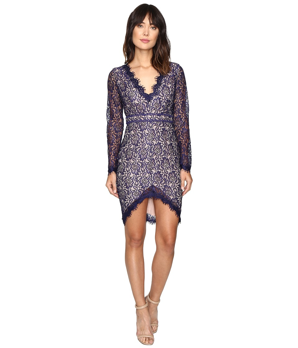 StyleStalker - Adelie Long Sleeve Dress (Neptune) Women's Dress