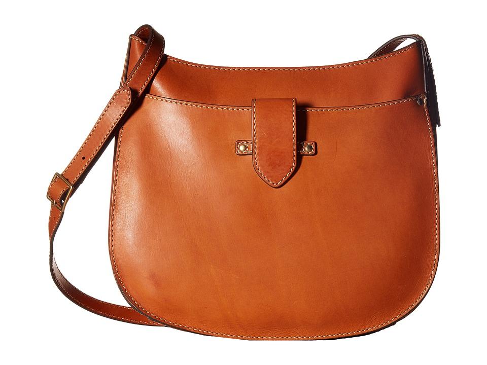 Frye - Casey Large Crossbody (Orange) Cross Body Handbags