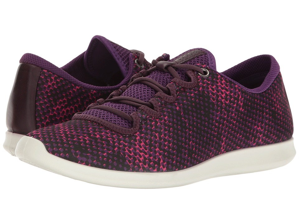 ECCO - Sense Sport Sneaker (Imperial Purple/Imperial Purple Textile/Cow Leather) Women's Lace up casual Shoes