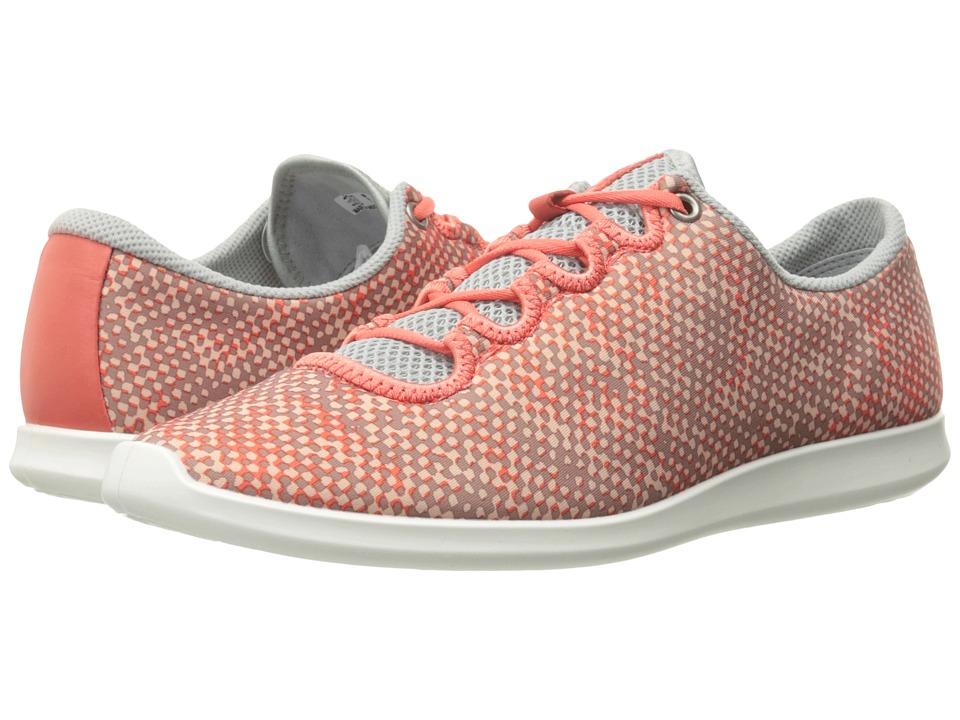 ECCO - Sense Sport Sneaker (Coral Bush/Concrete/Coral Bush Textile/Cow Leather) Women's Lace up casual Shoes