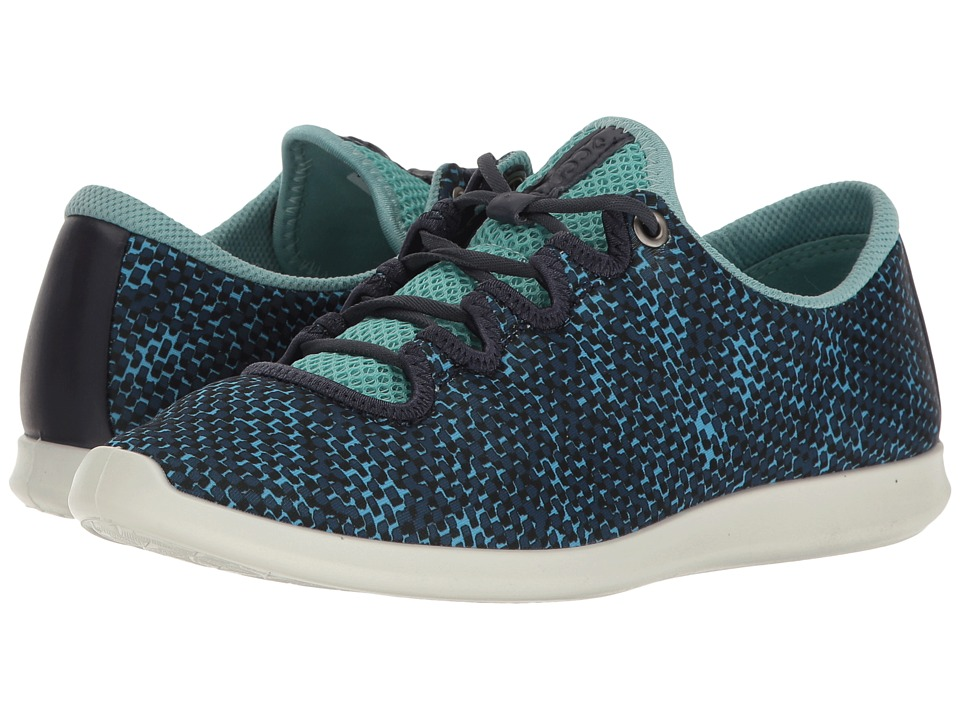 ECCO - Sense Sport Sneaker (Navy/Aquatic/Marine Textile/Cow Leather) Women's Lace up casual Shoes