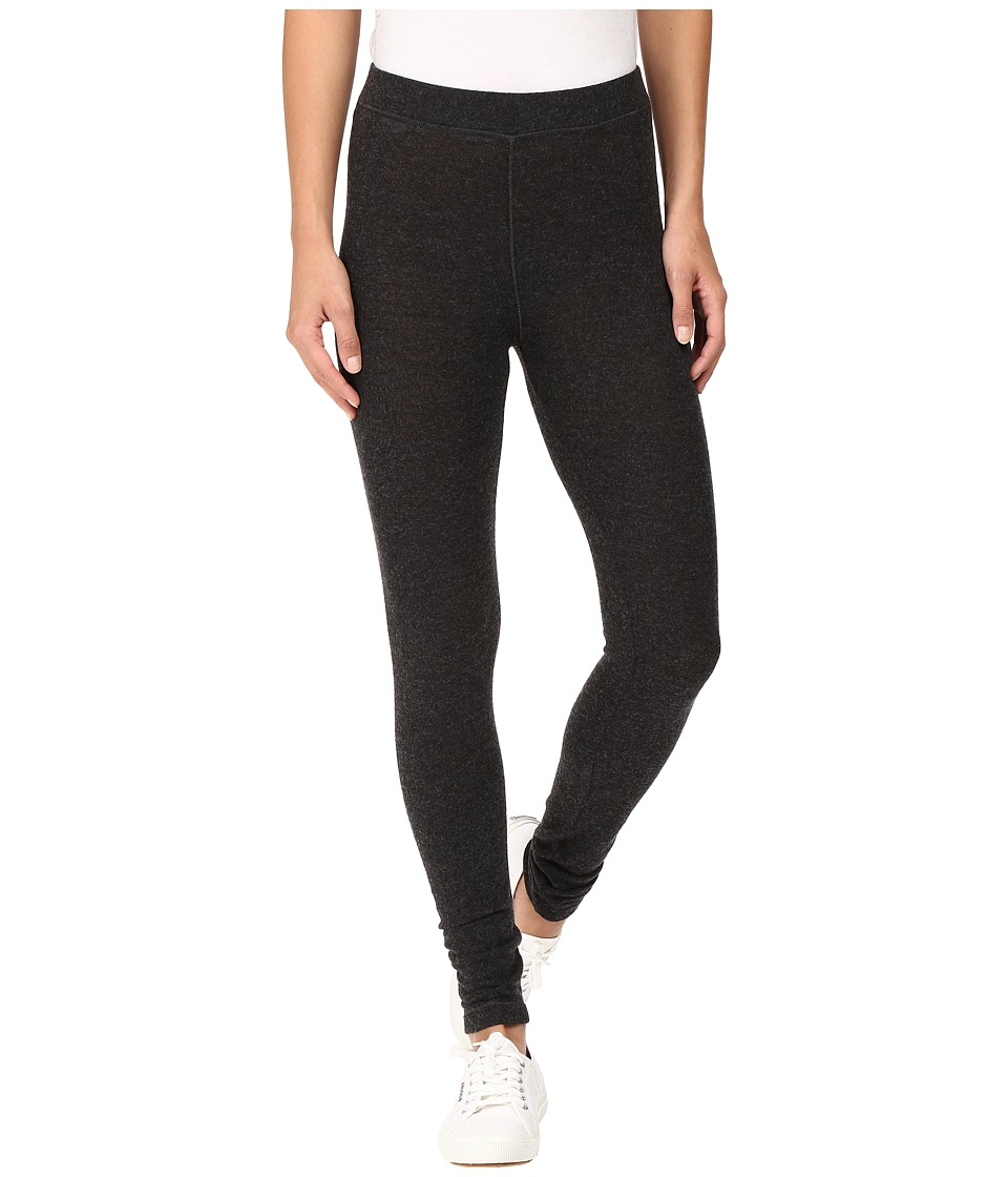 HEATHER - Brushed Hacci Leggings (Heather Charcoal) Women's Casual Pants
