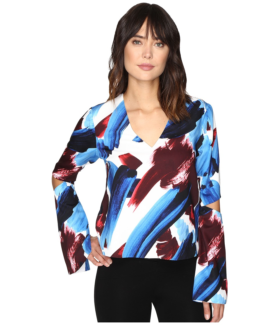 StyleStalker - Halley Long Sleeve Top (Halley Print) Women's Clothing