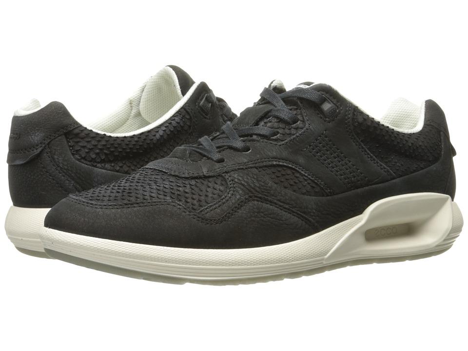 ECCO CS16 Sneaker (Black/Black Cow Nubuck) Women