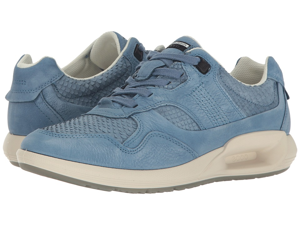 ECCO - CS16 Sneaker (Retro Blue/Retro Bliue Cow Nubuck) Women's Lace up casual Shoes