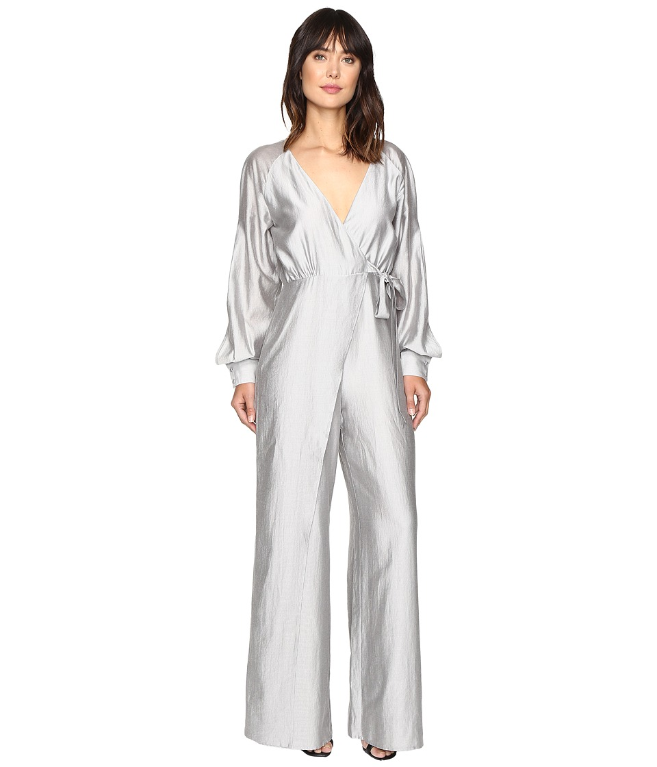 StyleStalker - Rosetta Jumpsuit (Silver Stripe) Women's Jumpsuit & Rompers One Piece