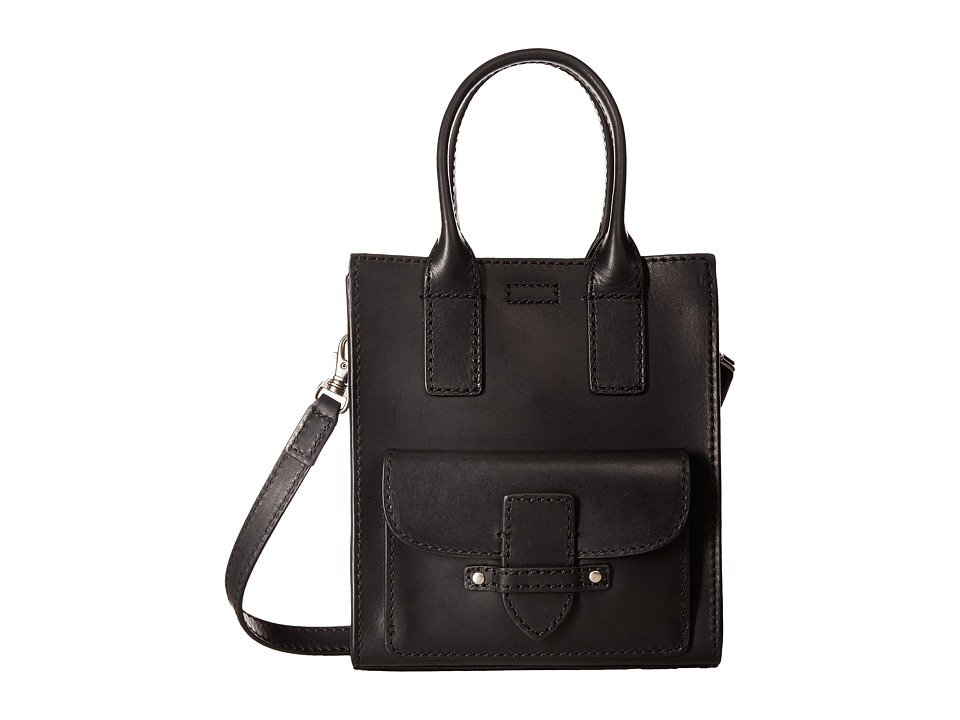 Frye - Casey Mini North/South Tote (Black) Tote Handbags