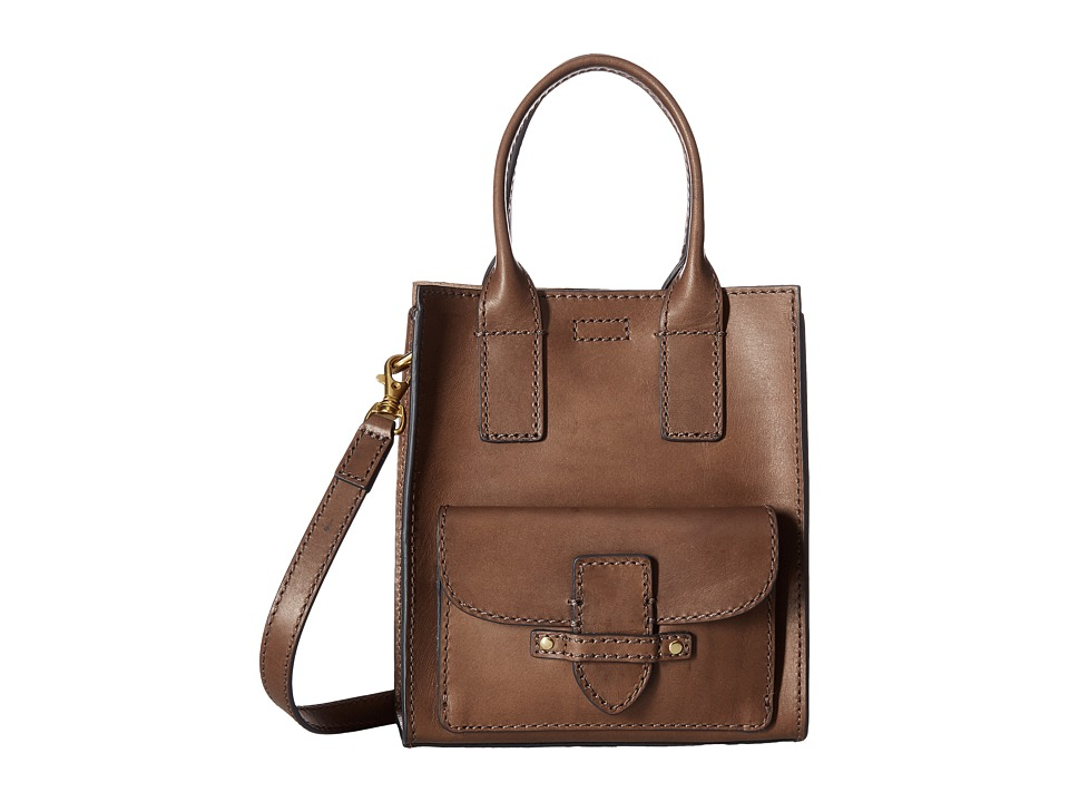 Frye - Casey Mini North/South Tote (Charcoal) Tote Handbags