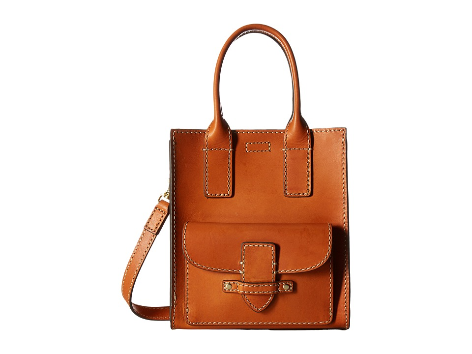 Frye - Casey Mini North/South Tote (Orange) Tote Handbags