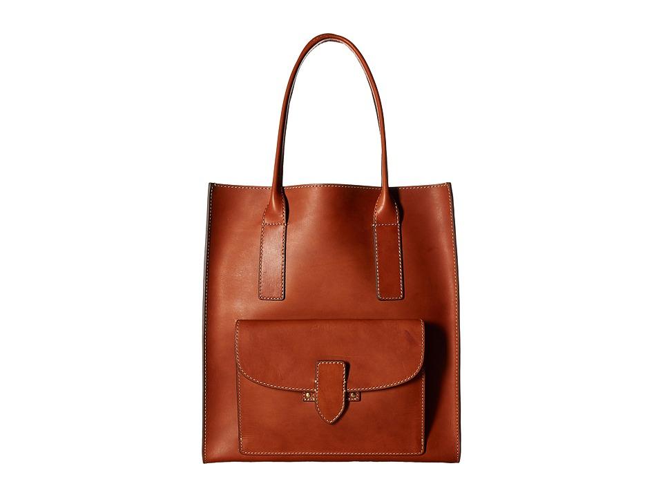 Frye - Casey North/South Tote (Rust) Tote Handbags
