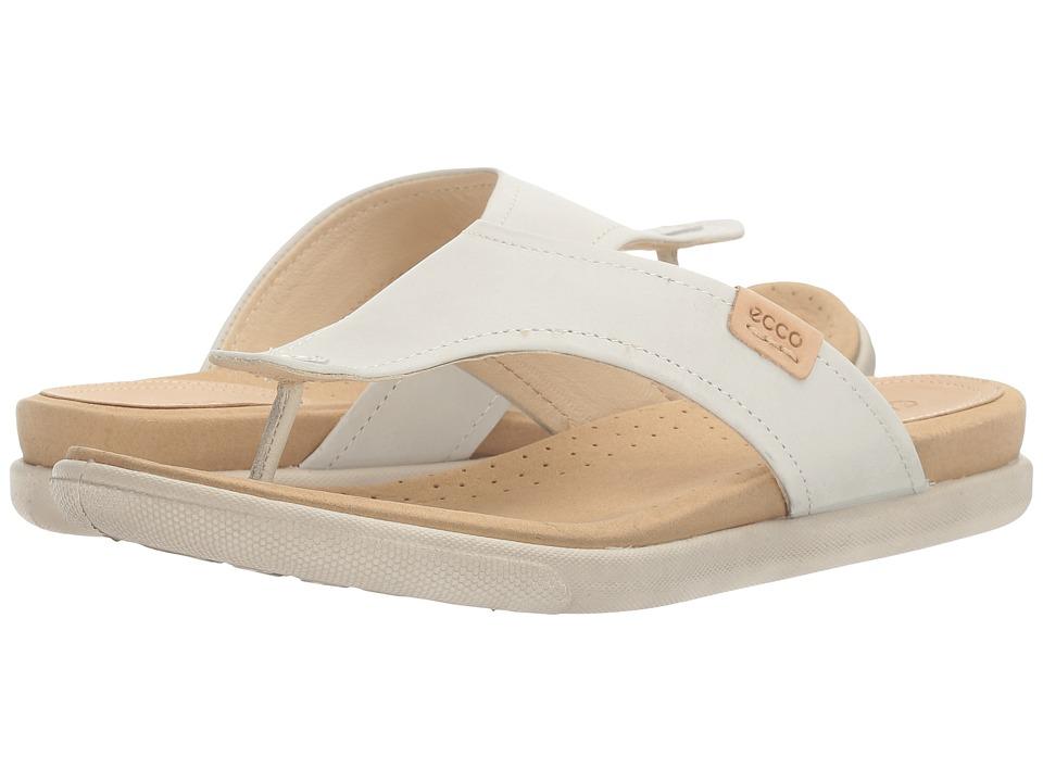 ECCO - Damara Thong (Shadow White Cow Nubuck) Women's Sandals