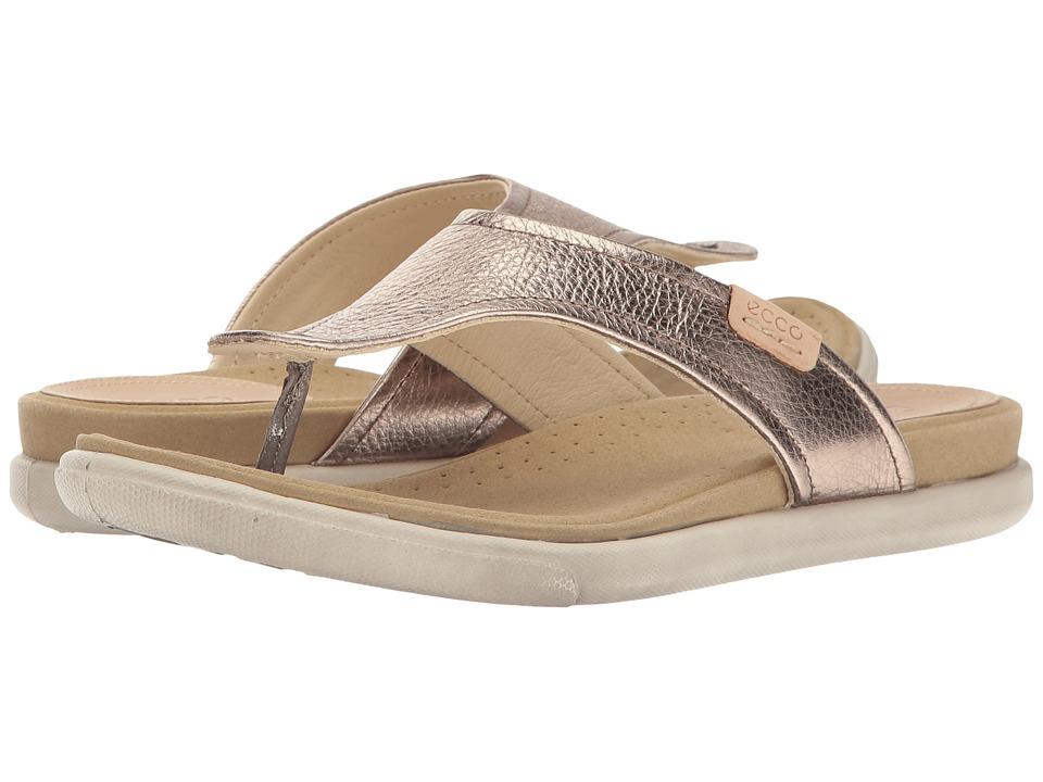 ECCO - Damara Thong (Warm Grey Cow Leather) Women's Sandals