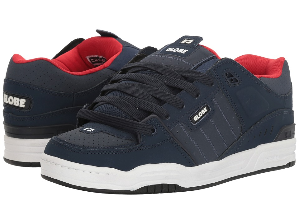 Globe - Fusion (Navy/Red) Men's Skate Shoes