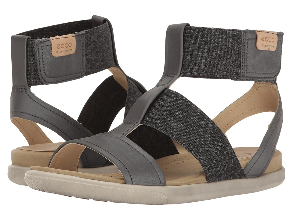 ECCO - Damara Ankle Strap Sandal (Dark Shadow/Powder Cow Nubuck) Women's Sandals