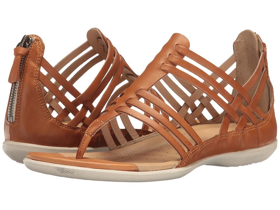ECCO - Flash Lattice T-Sandal (Lion Cow Nubuck) Women's Sandals
