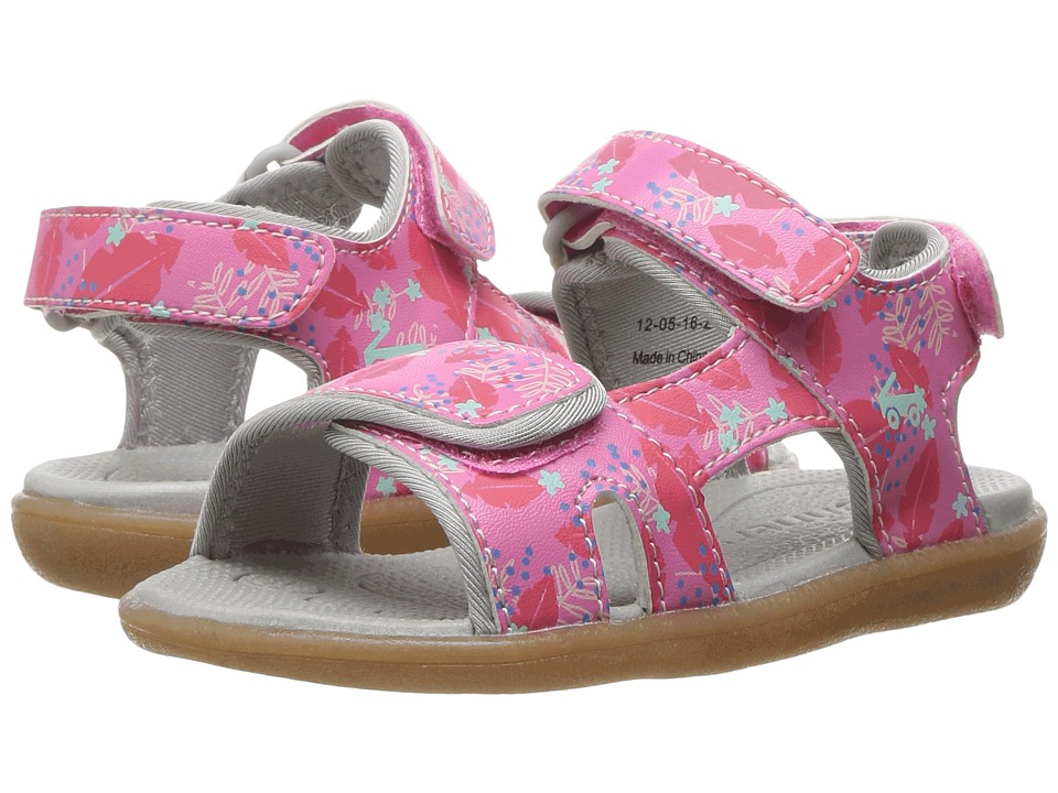 See Kai Run Kids Makena (Toddler/Little Kid) (Hot Pink Floral) Girl