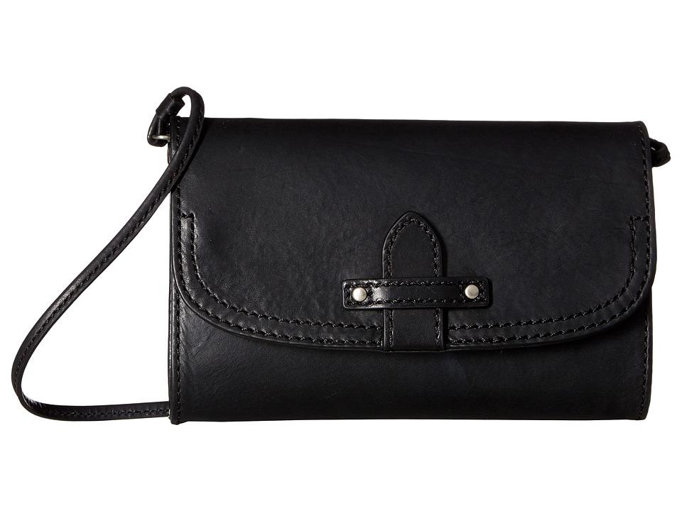 Frye - Casey Wallet Crossbody (Black) Cross Body Handbags
