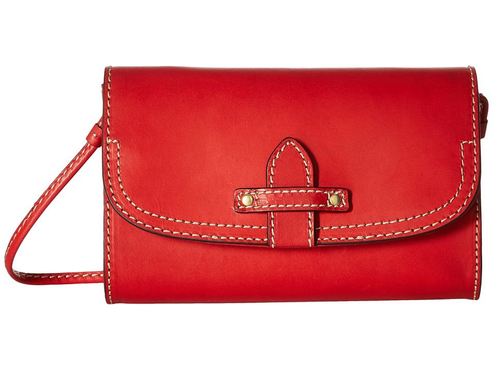 Frye - Casey Wallet Crossbody (Red) Cross Body Handbags