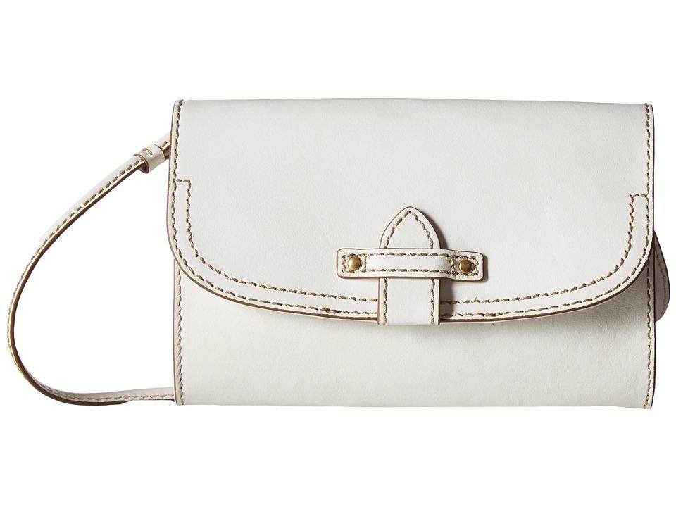 Frye - Casey Wallet Crossbody (White) Cross Body Handbags