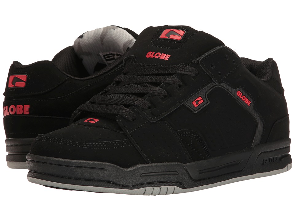 Globe - Scribe (Black/Black/Red) Men's Skate Shoes