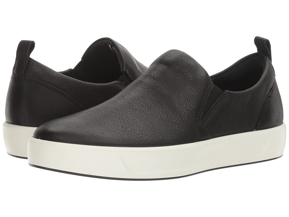 ECCO - Soft 8 Slip-On (Black Cow Leather) Women's Slip on Shoes