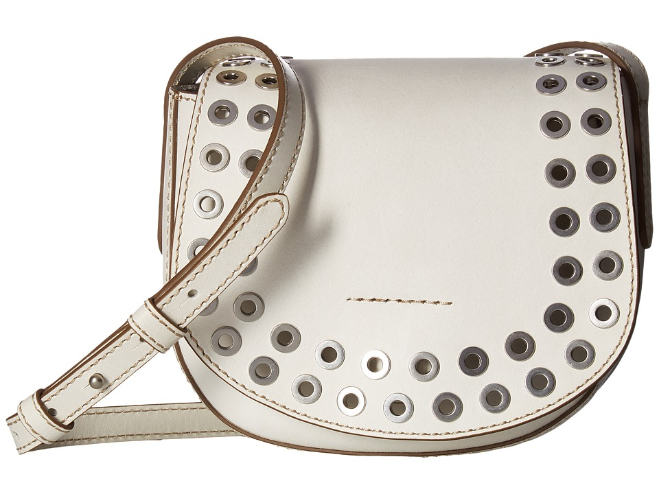 Frye - Cassidy Saddle (White) Handbags