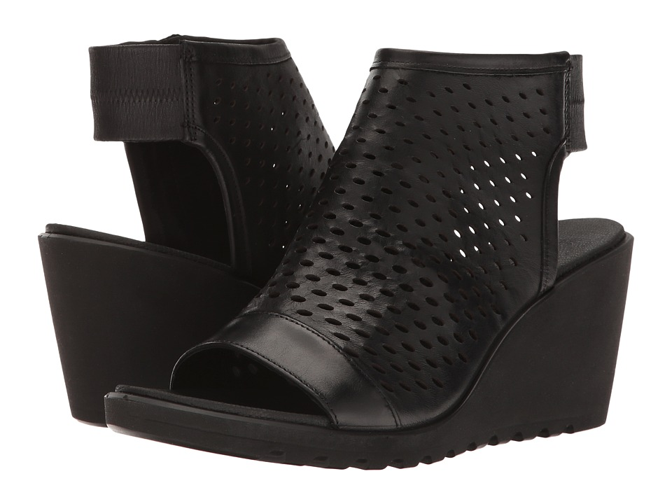 ECCO Freja Hooded Sandal (Black Cow Nubuck) Women