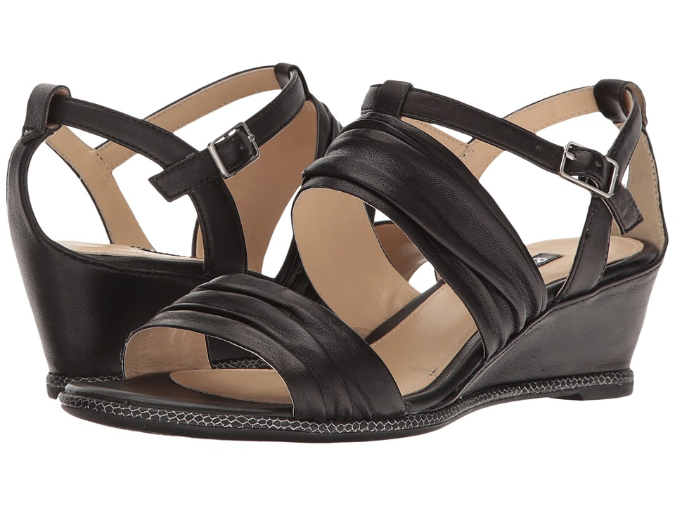 ECCO - Rivas 45 II Wedge (Black Sheep Leather) Women's Sandals