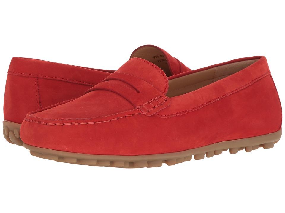 ECCO - Devin Moc Penny Loafer (Coral Blush Calf Nubuck) Women's Slip on Shoes