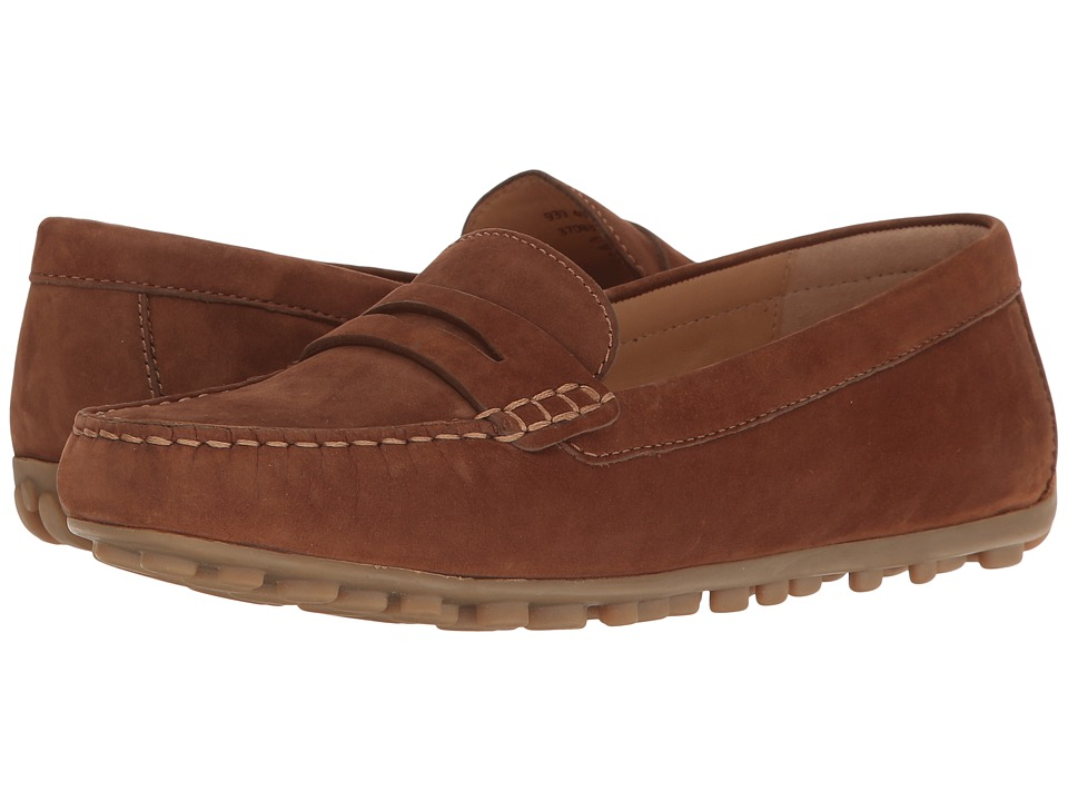 ECCO - Devin Moc Penny Loafer (Walnut Calf Nubuck) Women's Slip on Shoes