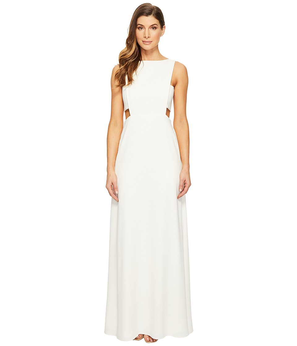 JILL JILL STUART Crepe Sleeveless Gown with Cut Outs (Off-White) Women